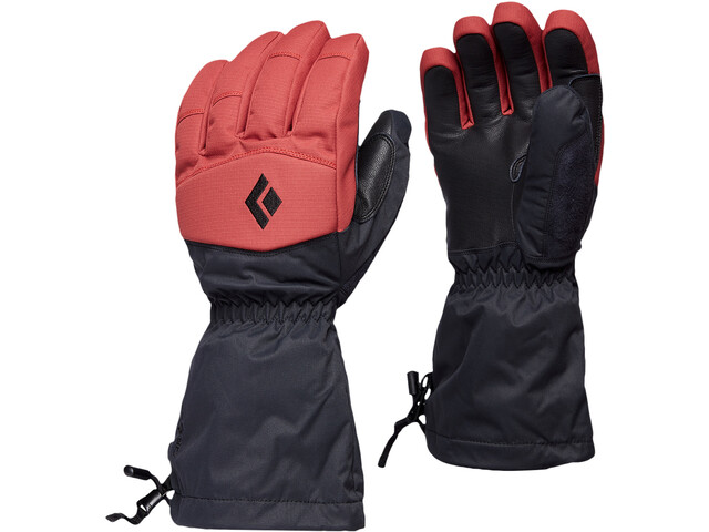 Black Diamond Recon Gloves, rojo/negro